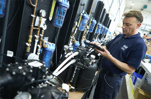 Staff numbers at Harvey Water Softeners' Woking headquarters grew by 50% last year