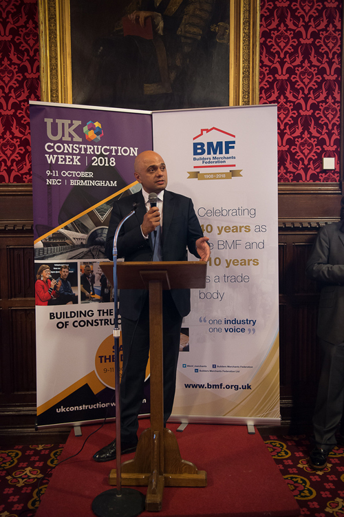 Sajid Javid spoke at an event to mark 110 years of the BMF