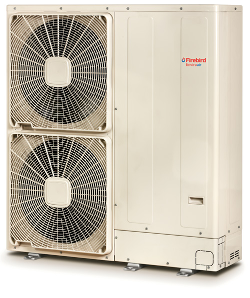 Firebird's Enviroair air source heat pump provides a compact and space saving solution