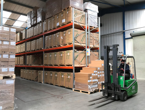 The warehouse, which now houses Furebird's extended product portfolio.