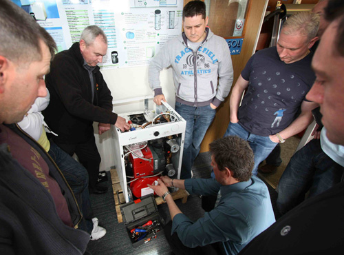 Training sessions are very hands-on as Firebird installers can get practical with many of the products it manufactures.