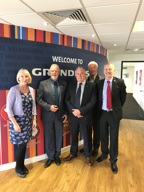 L-R: Diane Willis (Grundfos), Alex Clifford (BMF), Dave Lacey, Keith Jones (BMF Plumbing & Heating Forum chairman) and John Newcomb