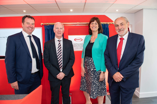 (L-R): Niall Fay, director, Paul Wakefield, Claire Perry MP, Stephen Grant, director