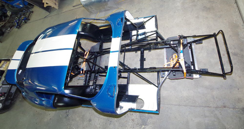 One of the cars built by Andy Robinson Race Cars