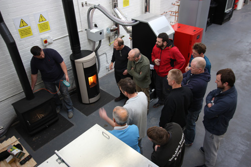 HETAS installers at Waxman Training Academy