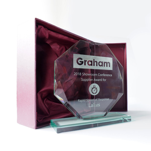 Lakes 'Rapid Speed of Response' award with Graham Plumbers' Merchant