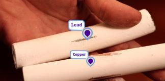 Lead and copper pipe comparison