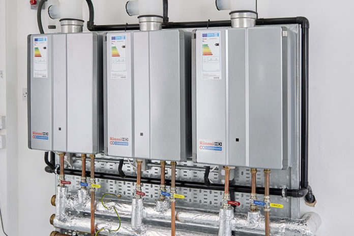 Rinnai gas fired continuous flow hot water and heating systems have been specified for use at a leading fitness centre in Maidstone, Kent,