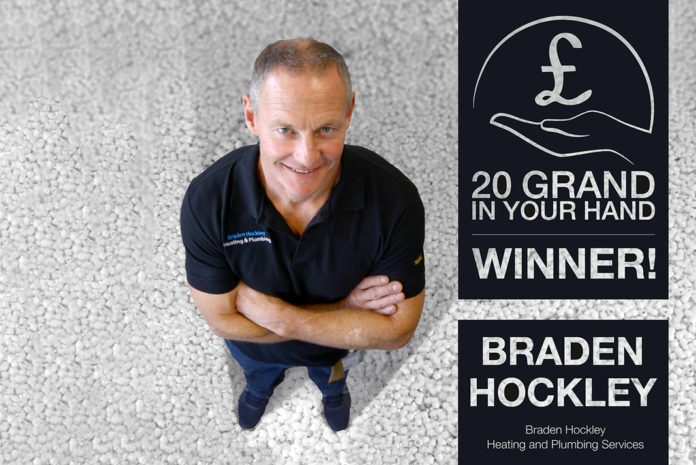 Braden Hockley was the well-deserved winner of the JG Speedfit competition