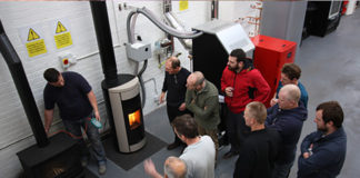 HETAS installers on a course at Waxman Training Academy