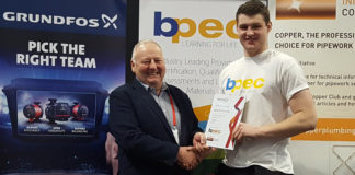 James McCall-Smith with BPEC chairman George Thomson