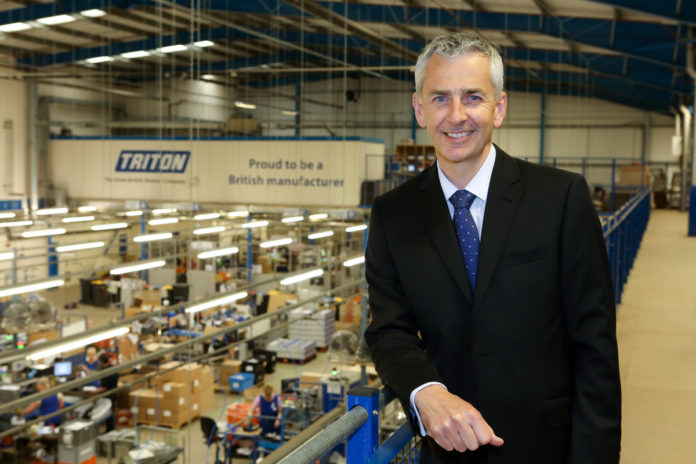 David Tutton is the managing director at Triton Showers