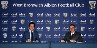 Xu Ke Chief Executive of West Bromwich Albion and Shaun Edwards CEO of Ideal Heating